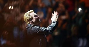 U2 will finish their current world tour in Ireland. Photograph: EPA/Alessandro Di Marco