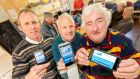 Showing how it's done: Martin Waters, Nicky Sheehan and Billy Cowming of Dungarvan Men's Shed demonstrate OneStepUp.ie