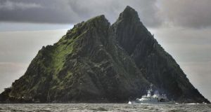 Filming at Skellig Michael was cancelled on Monday morning due to high winds. Photograph Charles McQuillan/GC Images