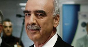 Evangelos Meimarakis, leader of the New Democracy Party of Greece: an accidental leader selling himself as a safe pair of hands. Photograph: Kostas Tsironis/Bloomberg