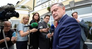 Minister for Public Expenditure and Reform Brendan Howlin at the Labour Party think-in at the Glenview Hotel,  Co Wicklow. Photograph: Eric Luke/The Irish Times