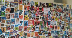 On entering the library corridor, students and visitors  are greeted by the Read Wall, which is a huge symbol and celebration of reading among the student population. The cover of every book read during the year is printed and pinned to this red wall