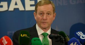 Taoiseach Enda Kenny has said he will be happy to conduct a live television debate with Fianna Fail leader Micheál Martin.  Photograph: Brenda Fitzsimons