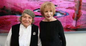 Imogen Stuart and Edna O'Brien: 'Two amazing women'  being honoured 'by their peers in the most fitting way possible for artists'. Photograph: Nick Bradshaw