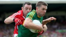 "Kerry's Marc Ó Sé in action in the Munster final against Cork. ""Physically, I feel great, so I'll just keep going as long as I feel I can,"" he says. Photograph: Donall Farmer/Inpho"