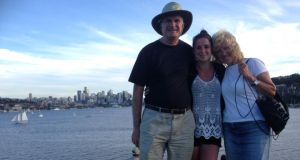 Ann Luttrell with her husband Mark and daughter Jane on a recent holiday together in Seattle.