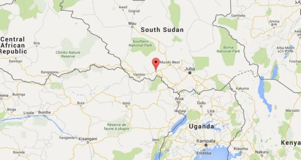 More than 100 killed as south sudan fuel tanker explodes a map of south sudan and neighbouring countries the town of maridi marked in gumiabroncs Gallery