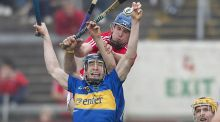 Tipperary's Eddie Connolly and Cork's Cian McCarthy during the Hurling League Division One clash at Páirc Uí Chaoimh in March, 2011. Photograph: Neil Danton/Inpho