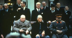 Winston Churchill, Franklin Delano Roosevelt and Joseph Stalin at the Yalta Conference. Photograph: HULTON GETTY