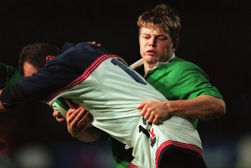 First up was the United States. Ireland won 53-8 in a game that marked Brian O'Driscoll's World Cup debut. Photograph: Lorraine O'Sullivan