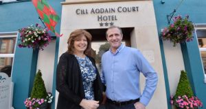 Welcome addition: Jacqui Salome and PJ Staide, who have reopened the Cill Aodáin Court Hotel in Kiltimagh. Photograph: Alan Betson