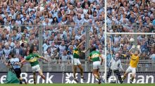 Kevin McManamon scores Dublin's second goal against Kerry in the epic 2013 All-Ireland football semi-final at Croke Park.  Photograph: Ryan Byrne/Inpho