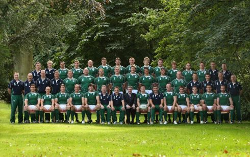 The Ireland 2007 World Cup squad. Photograph: Inpho/Billy Stickland