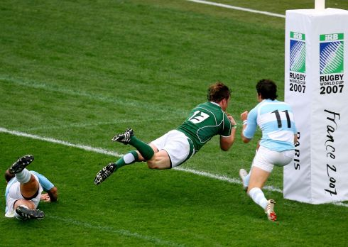 Despite a Brian O'Driscoll  try Ireland are soundly beaten 30-15. Photograph: Inpho/Dan Sheridan