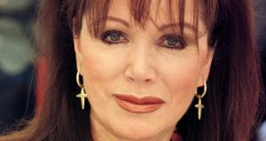 File photograph of Jackie Collins who has died aged 77 after a   battle with breast cancer. Photograph: PA