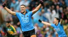 James McCarthy celebrates at the final whistle as Dublin are crowned All-Ireland champions 12 months ater semi-final heartbreak against Donegal. Photo: James Crombie/INPHO