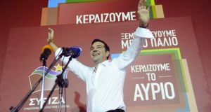 Greek voters returned Alexis Tsipras to power with a strong election victory on Sunday. Photograph: Michalis Karagiannis/Reuters