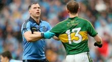 Dublin's  Philly McMahon and Kerry's Colm Cooper.  Photograph: Inpho/James Crombie