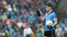 Dublin's Diarmuid Connolly waits to take a free during Sunday's All-Ireland football final win over Kerry. Photo: Ryan Byrne/Inpho