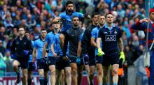 Cian O'Sullivan: despite a recent hamstring injury, he was deemed fit enough to play and, as it transpired, he executeed the sweeper role to perfection. Photograph: Donall Farmer/Inpho