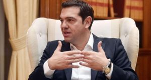 Greek prime minister Alexis Tsipras: EU congratulated Tsipras  and said Greece has 'no time to lose' in implementing the reforms agreed as part of its international bailout. Photograph: Louisa Gouliamaki/AFP/Getty Images