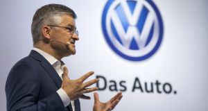 "Michael Horn, president and chief executive  of Volkswagen Group of America, said he was confident the German carmaker would restore customer confidence after it ""totally screwed up"" by rigging emissions tests of diesel-powered vehicles in the United States. Photograph: Darren Ornitz/Reuters"