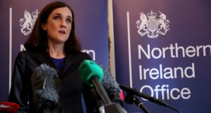 Northern Ireland Secretary Theresa Villiers has announced the names of the three members of the one-off panel on the Stormont crisis. File photograph: Brian Lawless/PA Wire