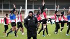 Japan's head coach Eddie Jones  supervises  training  at Kingsholm Stadium in Gloucester ahead of Wednesday's World Cup Pool B game against Scotland. Photograph: Damien Meyer.