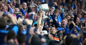 Stephen Cluxton lifts the Sam Maguire trophy. But did the Dublin goalkeeper make Darragh Ó Sé's All Star selection?