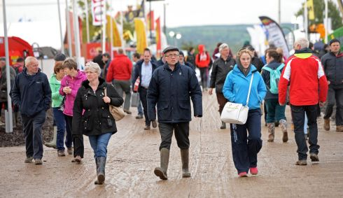 Visitors on the opening day at the National Ploughing Championships 2015. Photograph: Eric Luke/The Irish Times