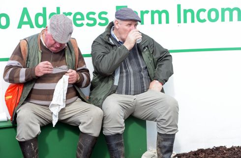 A well-earned tea break. Photograph: Eric Luke / The Irish Times