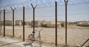 The Zaatari refugee camp in Jordan: The first bicycles started showing up more than a year ago, but the boom came around April with a donation from Amsterdam of 400 broken-down two-wheelers. Photograph: Samuel Aranda/The New York Times