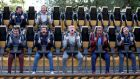 Ireland's Jared Payne, Luke Fitzgerald, Jonathan Sexton, Rob Kearney, Paul O'Connell, Simon Zebo and Tommy Bowe enjoying their rest day at Alton Towers, Staffordshire. Photograph: Dan Sheridan/Inpho