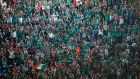 Irish fans celebrate after World Cup Pool D victory over Canada at the Millennium Stadium, Cardiff. Photograph: Reuters.