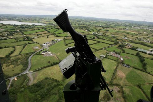 01/08/2005:  South Armagh as seen from a British Army Linx helicopter  after Northern Ireland Secretary Peter Hain unveiled a two-year plan by the Brtish government to scale down security and change policing practices. Photograph: credit should read: Cathal McNaughton/PA