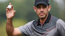 Charl Schwartzel of South Africa acknowledges the applause of the crowd   during the second round of the Porsche European Open at Golf Resort Bad Griesbach  in Passau, Germany. Photograph: Stuart Franklin/Getty Images