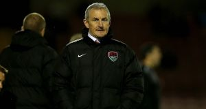 John Caulfield's Cork City side were frustrated by Derry City at Turner's Cross. Photograph: Donall Farmer/Inpho