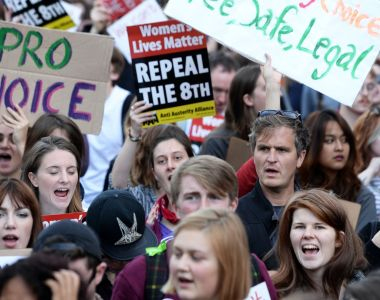 Thousands of people took part in the March for Choice organised by the Abortion Rights Campaign  at Merrion Square in Dublin. Photograph: Eric Luke/The Irish Times.