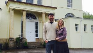 Eoghan Powell and his wife Ceri: he believes going abroad is necessary if you want to set up a business on a global scale