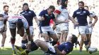 Matt Scott scored one of Scotland's five second half tries as they beat the USA 39-16 at Elland Road. Photograph: Reuters