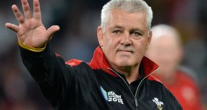 "Wales head coach Warren Gatland: ""I think we'll get a lot of confidence from this win."" Photograph: Glyn Kirk/AFP/Getty Images"