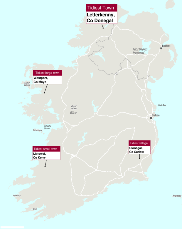 Tidy towns map