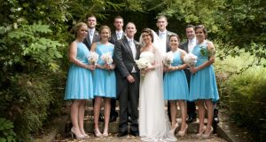 Jill Donoghue and Donal McAllister and their wedding party