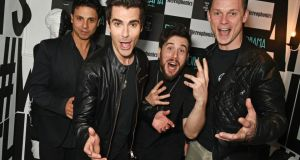 Local boys: Adam Zindani, Kelly Jones, Jamie Morrison and Richard Jones of Stereophonics. Photograph: Dave Benett/Getty Images