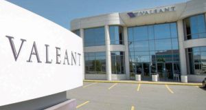 Valeant shares fell the most in four years after politicians asked to subpoena the company for documents relating to drug price increases