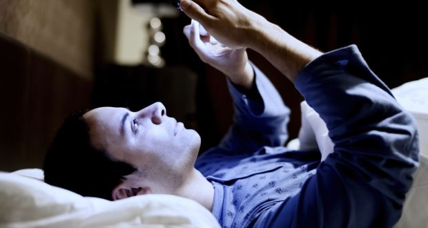 Using electronic devices just before trying to go to sleep is a bad idea.