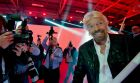 Virgin Group founder Richard Branson  at the RDS for the rebranding of UPC Ireland. Photograph: Brenda Fitzsimons