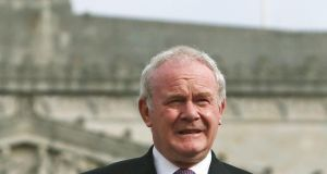 Deputy First Minister Martin McGuinness: said he hoped 2,000 Syrian refugees could be accommodated. Photograph: Brian Lawless/PA Wire