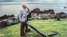 Brian Friel in Donegal. Photograph: Bobbie Hanvey