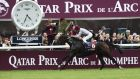 Thierry Jarnet leads Treve to victory in last year's Prix de l'Arc de Triomphe at Longchamp  in Paris last year. Photograph: Eric Feferbergeric/AFP/Getty